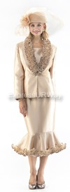 Moshita 6246 Womens Church Suits Champagne
