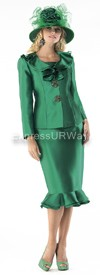 Moshita 6298 Womens Church Suits Emerald