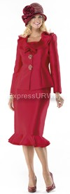 Moshita 6298 Womens Church Suits Red