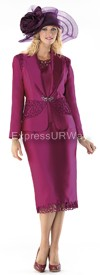 Moshita 6329 Womens Church Suits Rose