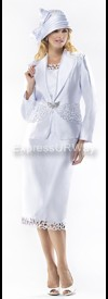 Moshita 6329 Womens Church Suits White
