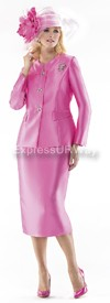 Moshita 6342 Womens Church Suits Bubblegum