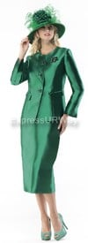 Moshita 6342 Womens Church Suits Emerald
