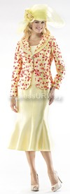 Moshita 6347 Womens Church Suits Yellow