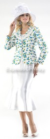 Moshita 6347 Womens Church Suits Ivory