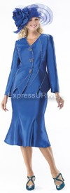 Moshita 6349 Womens Church Suits Royal