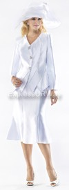 Moshita 6349 Womens Church Suits White