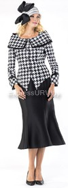Moshita 6353 Womens Church Suits Black
