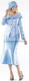 Moshita 6353 Womens Church Suits Blue