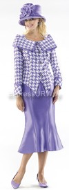 Moshita 6353 Womens Church Suits Purple
