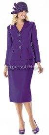 Moshita 6355 Womens Church Suits Purple