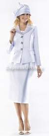 Moshita 6355 Womens Church Suits White