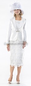 Moshita 6356 Womens Church Suits Off-White