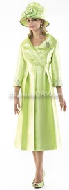 Moshita 6369 Womens Church Suits Lime