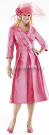 Moshita 6369 Womens Church Suits Rose