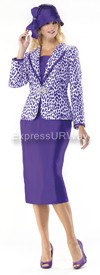 Moshita 6372 Womens Church Suits Purple