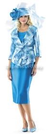 Moshita 6377 Turquoise Womens Church Suits