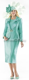 Moshita 6388 Womens Church Suits Mist Green