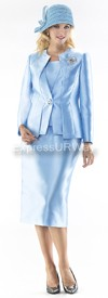 Moshita 6419 Womens Church Suits Blue