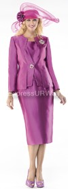 Moshita 6419 Womens Church Suits Mulberry