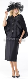 Moshita 6438 Womens Church Suits Black