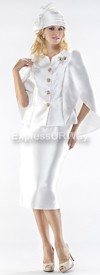 Moshita 6438 Womens Church Suits Off-White