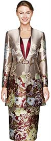 Nina Massini 2455 Ladies Suit For Church With Floral Print