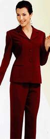 Nina Massini 9297 Womens Basic Pant Suit Wardrober With Skirt