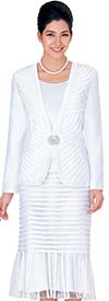 Nina Massini 2327 Silky Twill Ladies Skirt Suit For Church