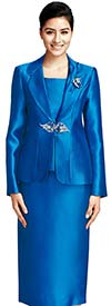 Nina Massini 2368 Silky Twill Ladies Skirt Suit For Church