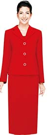 Nina Massini 2427 Womens Skirt Suit For Church With Notch Lapels