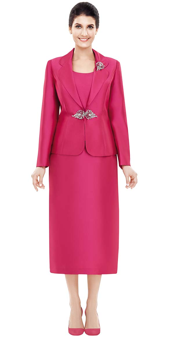 Nina Massini 2368 Womens Skirt Suit With Clover Lapels