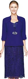 Nina Nischelle 2641 Lace Dress & Microfiber Jacket Set