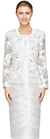 Nina Nischelle 2821 Womens Lace & Silky Twill Dress & Jacket Set