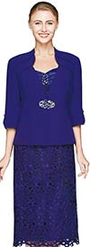 Nina Nischelle 2641 Lace Dress With Microfiber Jacket