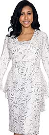 Nubiano Dresses DN4592-White - Ladies Lace Dress
