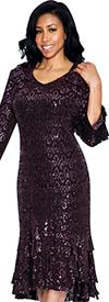 Nubiano Dresses DN4802-Pink - Womens Sequin Dress