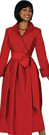 Nubiano Dresses DN5371-Red - Womens Wide Cuff Dress