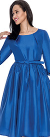 Nubiano Dresses DN5871-Royal Pleated Dress With Belt