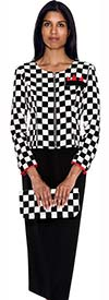 Nubiano N93493 Ladies Checked Pattern Church Suit