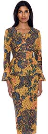Nubiano N93632 Womens Multi Colored Suit