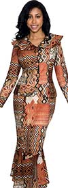 Nubiano N93642 Womens Multi Patterned Suit