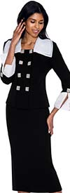 Nubiano N93722 Womens Wide Collar Suit