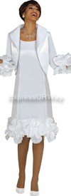Clearance Nubiano Dresses DN5912 - White