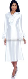 Clearance Nubiano Dresses DN5251-White