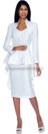 Clearance Nubiano Dresses DN5442-White