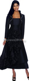 Clearance Nubiano Dresses DN5502-Black