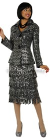 Nubiano N94342 Charcoal - Church Suit