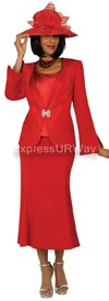 Clearance Nubiano N94453 Red - Church Suit
