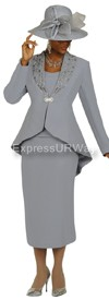 Clearance Nubiano N94513 Silver - Church Suit